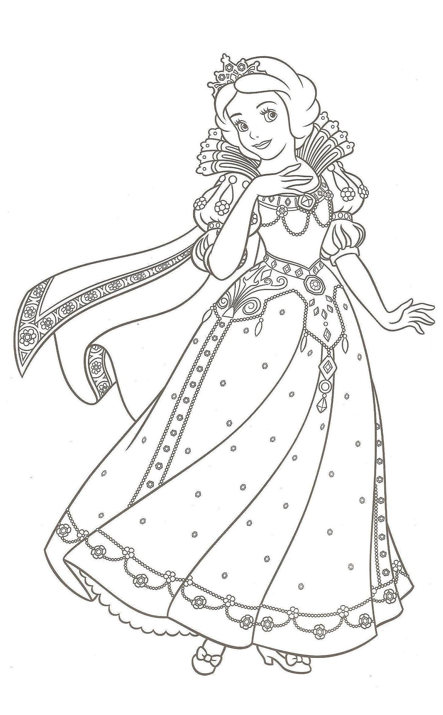 Coloriages disney princesses imprimer - Coloriages princesse ...
