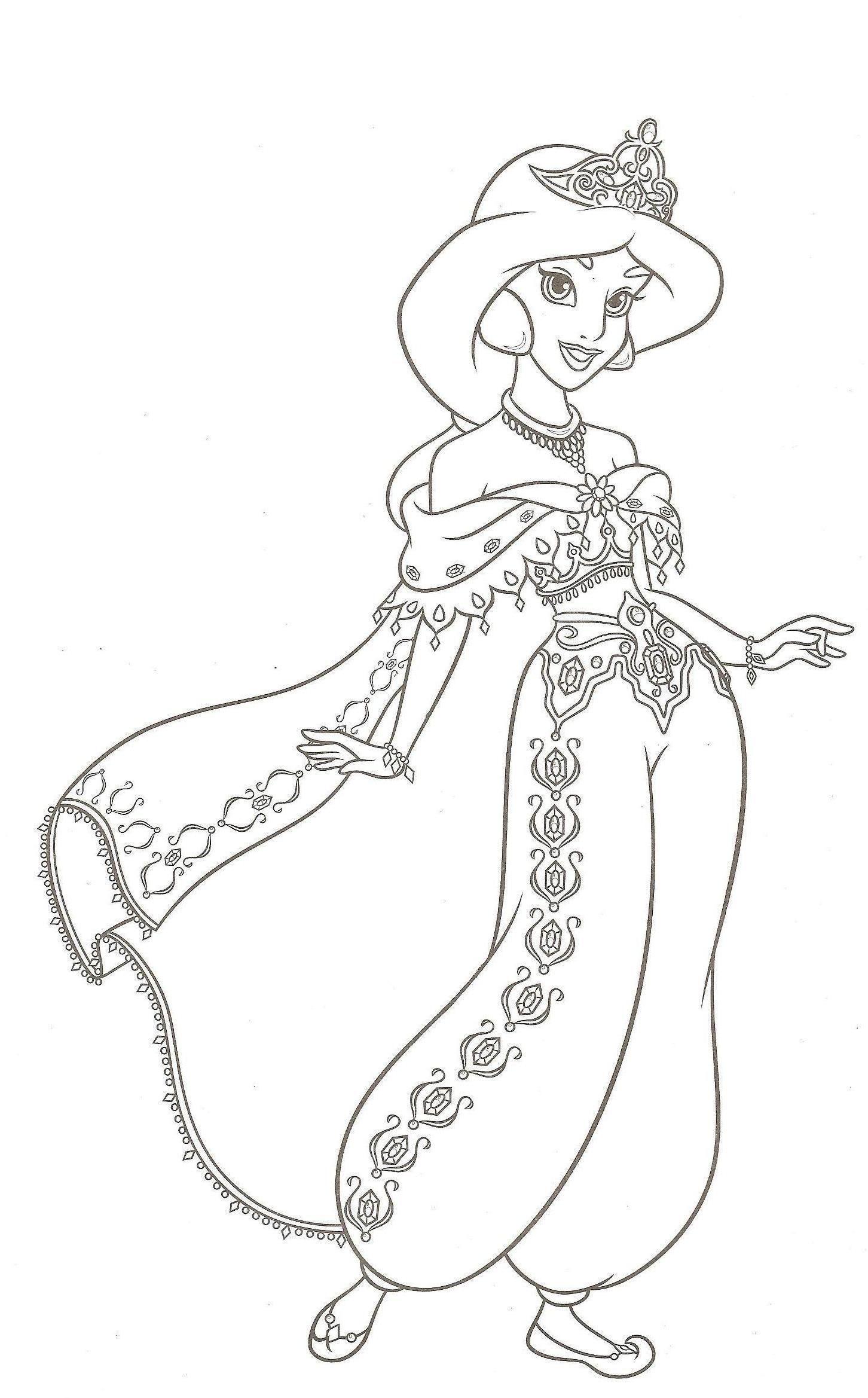 Dessin pour colorier - Princesse disney a colorier ...